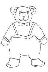 vector hand drawn bear