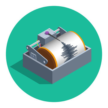 Earthquake seismograph icon