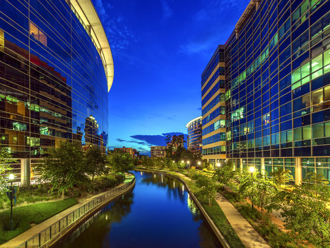 The Woodlands Texas at Night