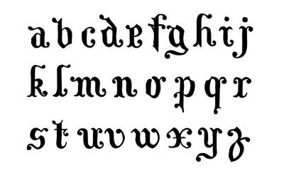Minuscules lettres anciennes.