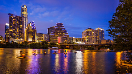 Austin, Texas Downtown Skyline at Night
