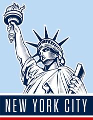 Statue of Liberty. New York landmark and symbol of Freedom and Democracy.