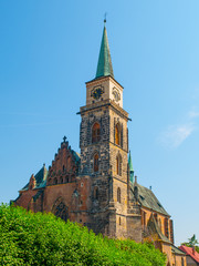 The Gothic Church of St. Giles in Nymburk
