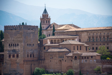 View of Alhambra Palace in Granada, Spain
