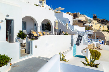 Traditional white architecture of Santorini island, Greece