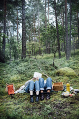 Women on picknick in the forest