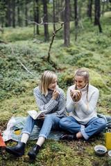 Two women in picknick