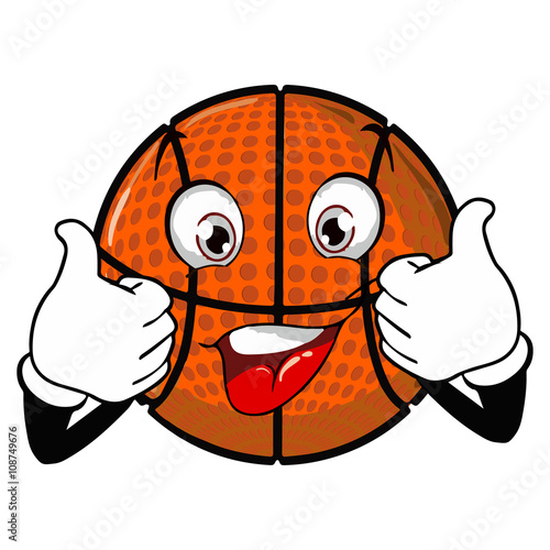 Basketball net cartoon