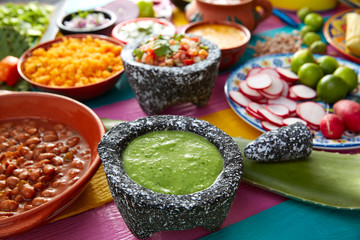 Green sauce with tomato and chili pepper