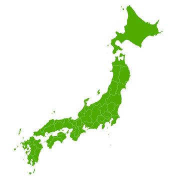 日本 地図 緑 アイコン