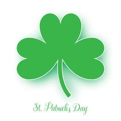 St. Patrick's Day green clover vector background. Irish holiday celebration