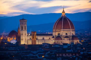 View of the Cathedral of Santa Maria del Fiore, Florence, Italy