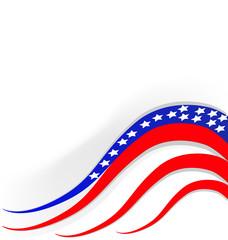 USA flag banner vector icon