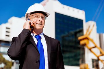 Businessman at construction site