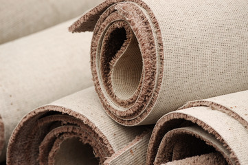 stacking carpet rolls