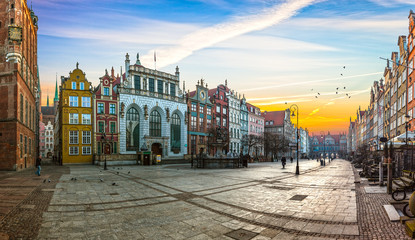 Old town of Gdansk with in the morning, Poland. Fototapete