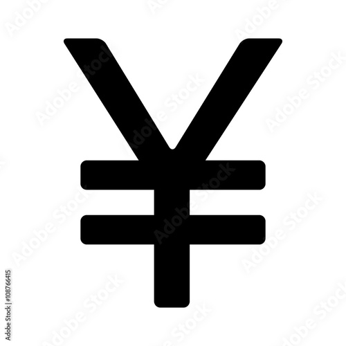 Japanese Yen Or Chinese Yuan Currency Symbol Flat Icon For Apps And
