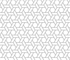 hexagon star seamless pattern