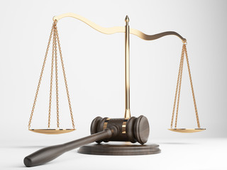 Justice scales gavel