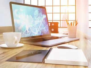 Laptop chart side