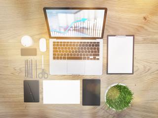 Toned desk top