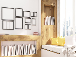 Windowsill seat and frames