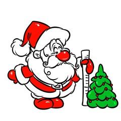 Christmas tree Santa Claus cartoon illustration
