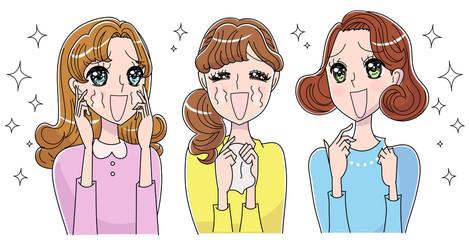 輝く女性たちのイラスト