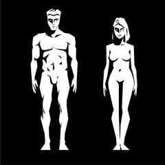 angular simple image of man and woman