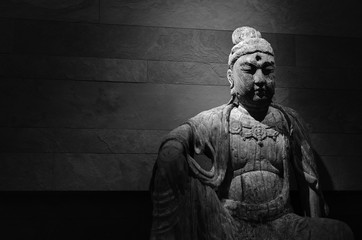 Buddha black and white