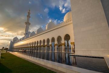 ABU DHABI, UAE - FEBRUARY 01: Sheikh Zayed Grand Mosque, Abu Dha