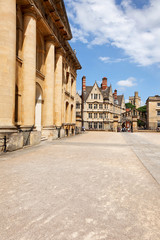 Clarendon Building and Hertford Bridge, Oxford, UK