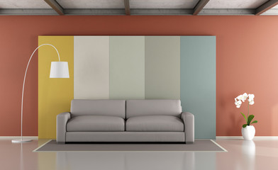 Colorful modern lounge