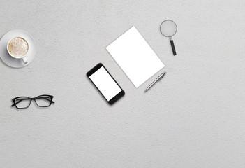 Office workspace business image for mock up presentation