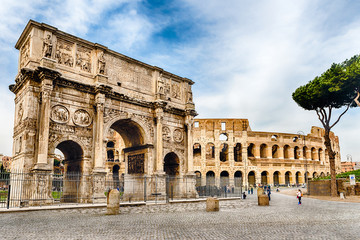 Wall Mural - Arch of Constantine and The Colosseum, Rome