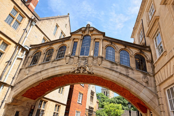 Bridge of Sighs aka Hertford Bridge, Oxford, UK