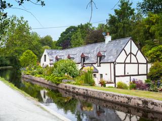 Pen-y-Ddol cottage on the Llangollen Canal Denbighshire Wales UK