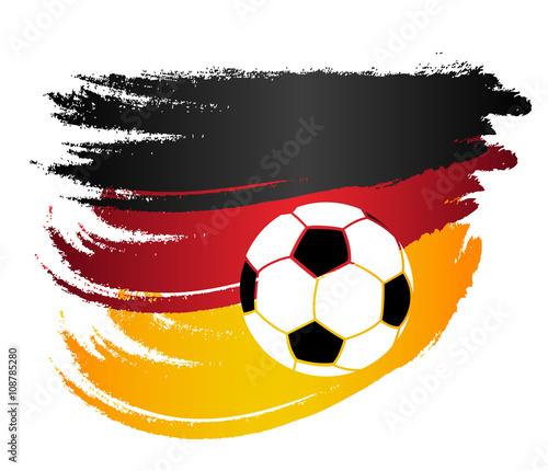 Fu ball vor deutschland fahne vektor isoliert for Design firmen deutschland