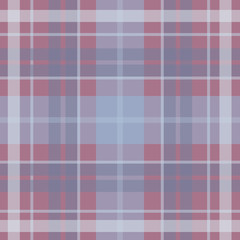 Vector seamless scottish tartan pattern in blue, pink, purple, violet. British or irish celtic baby tender design for textile, fabric or for wrapping, backgrounds, wallpaper, websites
