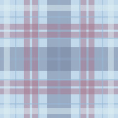 Vector seamless scottish tartan pattern in blue, purple, violet, white. British or irish celtic baby design for textile, fabric or for wrapping, backgrounds, wallpaper, websites