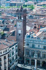 Beautiful view from the tower lamberti of Verona