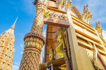 temple wat tham sua architecture famous scenic view thamuang, kanchanaburi, thailand