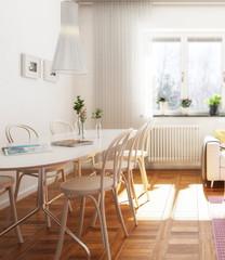 Praktische Wohnungseinrichtung (Fokus)