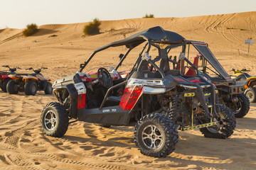 ride in dune buggy in Desert Safari