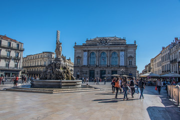 Montpellier, Place de la Comédie, France