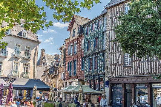 Maisons à Pans de bois, Rennes, Bretagne, France