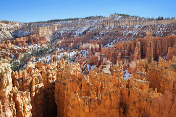 scenic view of sandstone pinnacles in Bryce Canyon