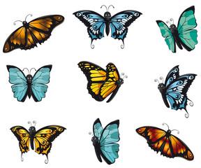 buntes Schmetterlinge Sortiment