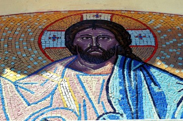 The face of Jesus it mosaic.
