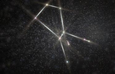 Orion Constellation 3D Illustration